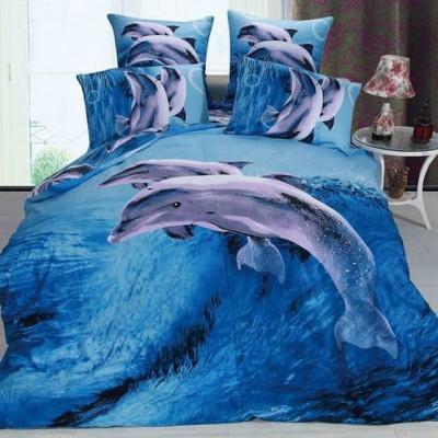 Постельное белье Stile Tex 3D Дельфины (размер 2-спальный)