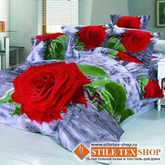 Постельное белье Stile Tex 3D Дыхание розы (размер евро плюс)
