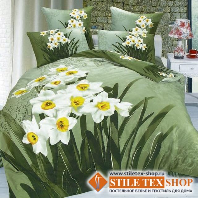 Постельное белье Stile Tex 3D Нарциссы (размер евро плюс)