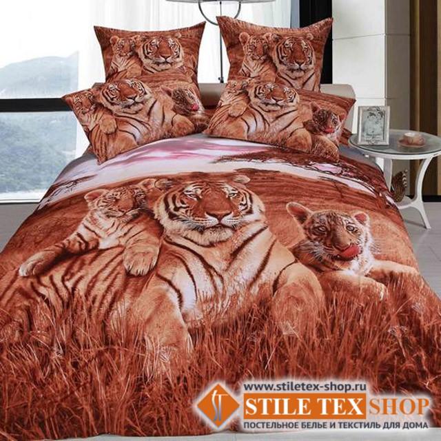 Постельное белье Stile Tex 3D Тигры (размер евро)