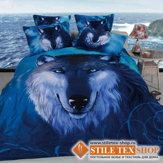 Постельное белье Stile Tex 3D Волчий взгляд (2-спальный размер)