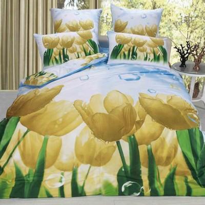 Постельное белье Stile Tex 3D Желтые тюльпаны (размер 2-спальный)