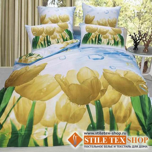 Постельное белье Stile Tex 3D Желтые тюльпаны (размер евро)
